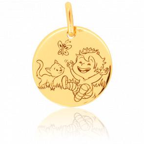 Médaille Blagueur Nature Or Jaune 9K