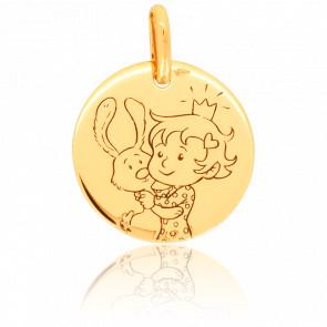 Médaille Curieuse Nature Or Jaune 9K
