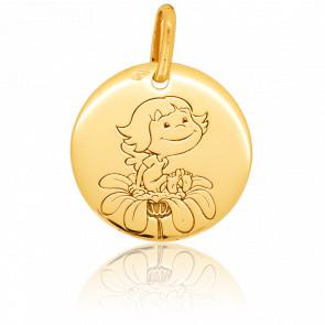 Médaille Précieuse Nature Or Jaune 18K