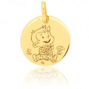 Médaille Rêveur Nature Or Jaune 9K