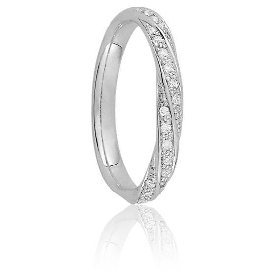 Alliance Lina Or Blanc 18K & Diamants