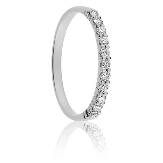 Alliance Maha Or Blanc 18K et Diamants