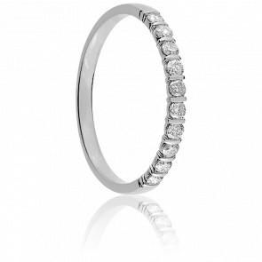 Alliance Mayssa Or Blanc 18K et Diamants 0.20 carat