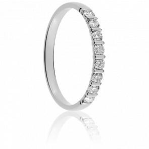 Alliance Mayssa Or Blanc 18K et Diamants 0.25 carat