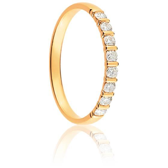 Alliance Mayssa Or Jaune 18K et Diamants 0.25 carat