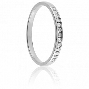 Alliance Tala Or Blanc 18K & Diamants 0,10 ct
