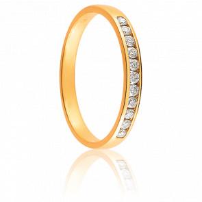 Alliance Tala Or Jaune 18K et Diamants 0,15 ct