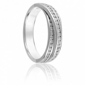 Alliance Louna Or Blanc 18K et Diamants