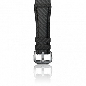 Bracelet cuir gris carbone 24 mm
