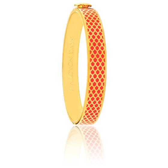 Bracelet Salamander Orange & Doré