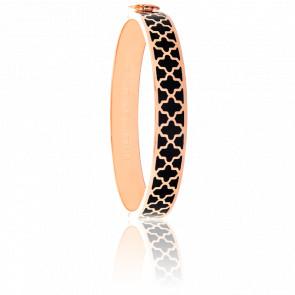 Bracelet Agama Noir & Doré Rose