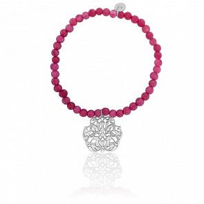 Bracelet Arabesque Plaqué Argent & Perles Serpentines