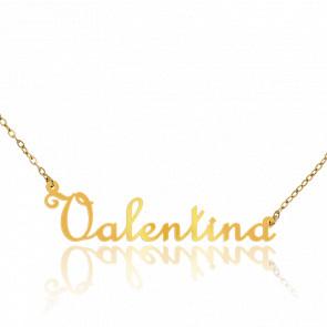 Collier Prénom Valentina Or Jaune 18K