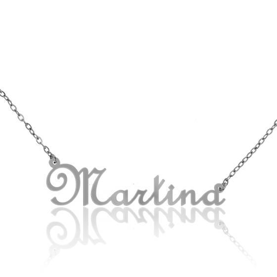 collier pr nom martina en or blanc 18 carats ocarat. Black Bedroom Furniture Sets. Home Design Ideas