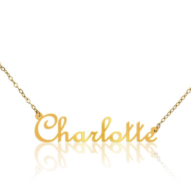 collier pr nom charlotte en or jaune 18 carats ocarat. Black Bedroom Furniture Sets. Home Design Ideas