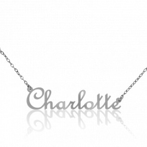 Collier Prénom Charlotte Or Blanc 18K