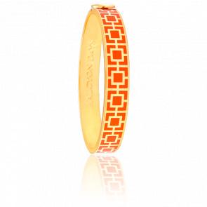 Bracelet Mosaic Orange & Doré