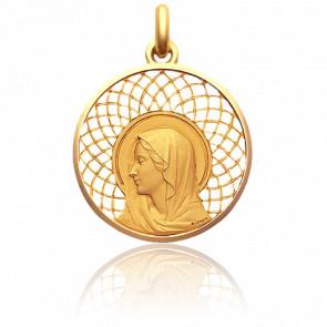 Médaille Regina 27 mm En Or Jaune 18K