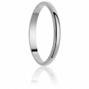 Alliance Valencia 2 mm Or Blanc 18K