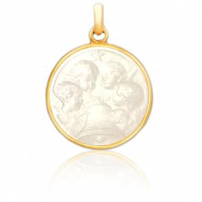 Médaille Angélus Nacre & Or Jaune 18K