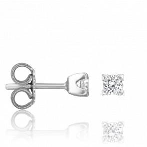 Boucles d'Oreilles Perdita Argent & Diamants 0,32 ct