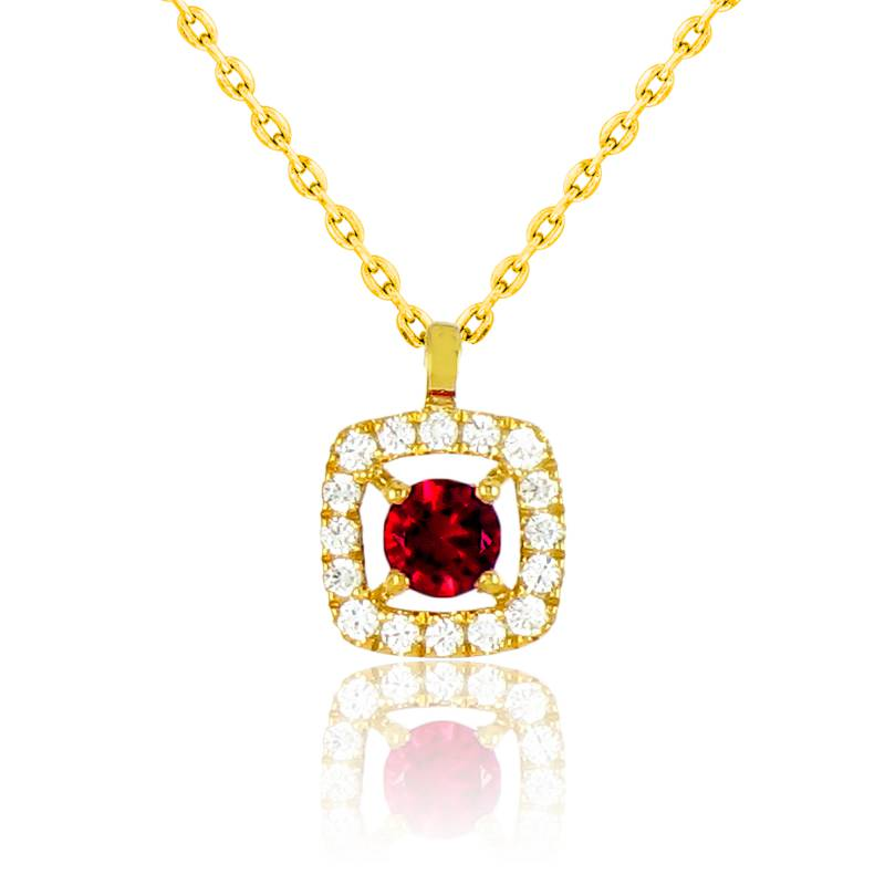 collier avec pendentif or jaune rubis et diamants ocarat. Black Bedroom Furniture Sets. Home Design Ideas