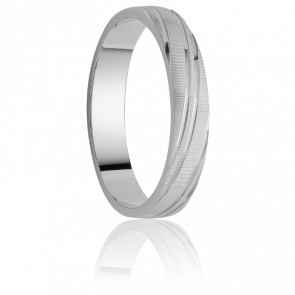Alliance Coquimbo 5 mm Or Blanc 18K