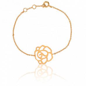 Bracelet Rose Plaqué Or