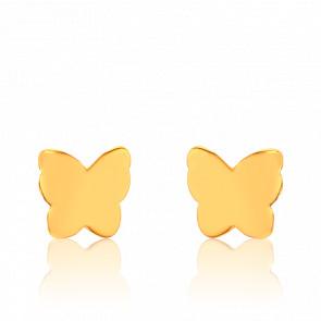 Boucles d'Oreilles Papillon Plaquées Or Jaune