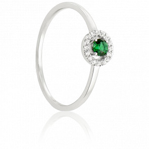 Bague Alaverdi Or Blanc & Emeraude et diamants