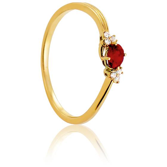 Bague Azada Or Jaune 18K & Rubis