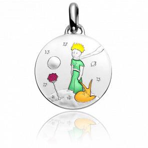 Médaille Couleur Petit Prince Sur Sa Planète Argent