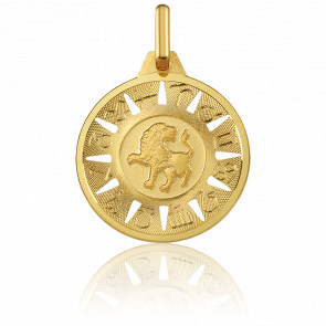 Médaille Signe du Lion Or Jaune 18K