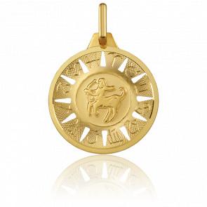 Médaille Signe du Sagittaire Or Jaune 18K