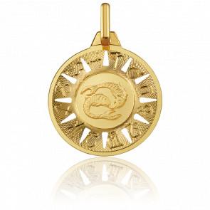 Médaille Signe du Poisson Or Jaune 18K