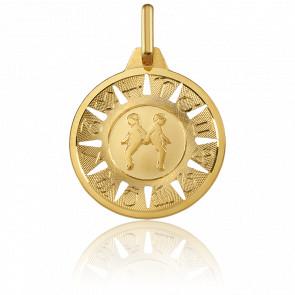 Médaille Signe des Gémeaux Or Jaune 18K