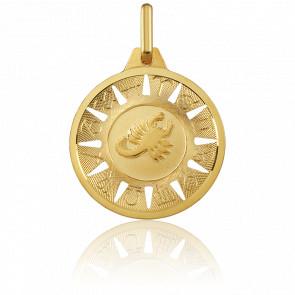 Médaille Signe du Scorpion Or Jaune 18K