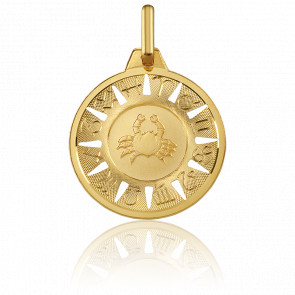 Médaille Signe du Cancer Or Jaune 18K