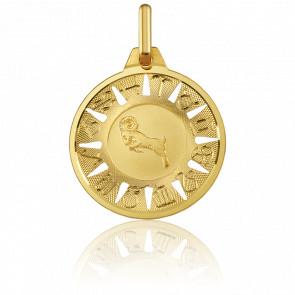 Médaille Signe du Bélier Or Jaune 18K