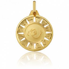 Médaille Signe du Verseau Or Jaune 18K