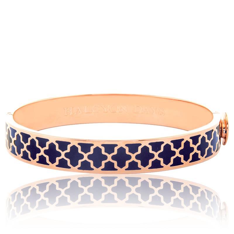 bracelet jonc agama bleu or rose halcyon days ocarat. Black Bedroom Furniture Sets. Home Design Ideas