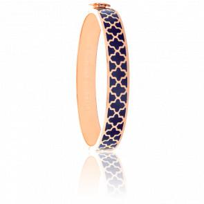 Bracelet Agama Bleu & Doré Rose