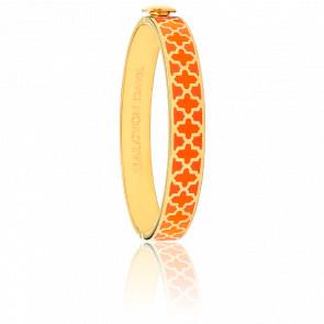 Bracelet Agama Orange & Doré
