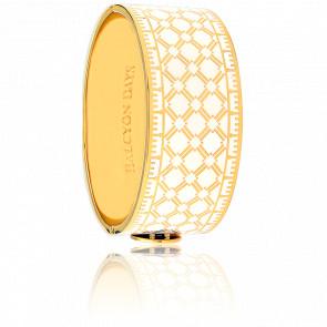 Bracelet Manchette Harlequin Crème & Doré