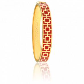 Bracelet Mosaic Rouge & Doré