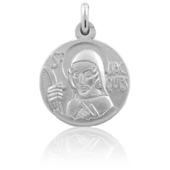 Médaille Saint Jacques 18 mm Argent