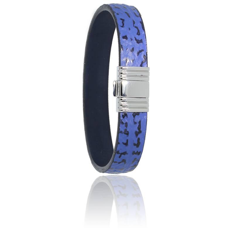 Bracelet 696 Cuir de Requin Bleu & Acier