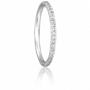 Alliance Paquita Or Blanc 18K et Diamants