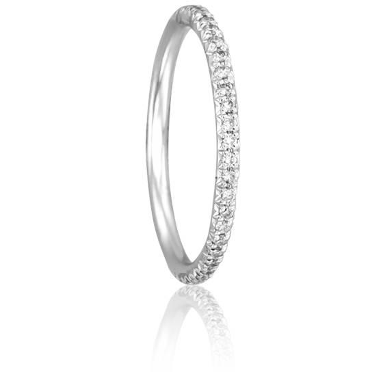 Alliance Paquita Or Blanc 18K et Diamants