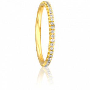 Alliance Paquita Or Jaune 18K et Diamants